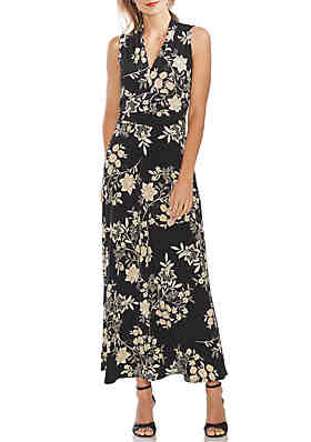 e481b819c91d Vince Camuto Floral V Neck Maxi Dress ...