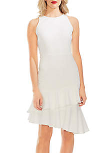 9e46aebe Vince Camuto Sleeveless Floral Handkerchief Hem Dress · Vince Camuto  Sleeveless Tiered Ruffle Hem Crepe Ponte Dress
