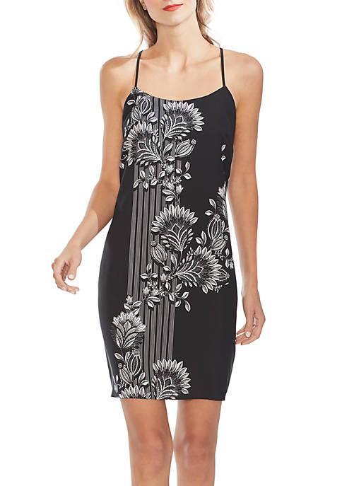 Vince Camuto Ornate Melody Border Slip Dress