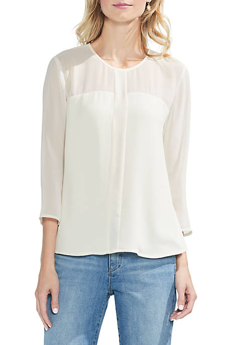 Vince Camuto Long Sleeve Soft Texture Blouse
