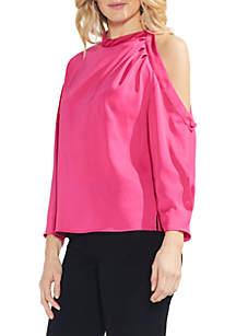 Long Sleeve Cold-Shoulder Blouse