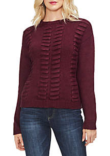 Vince Camuto Lace-Through Sweater