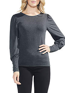 Long Bubble Sleeve Knit Top