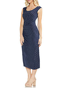 Cap Sleeve Romantic Dots Dress