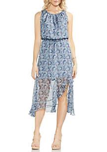 Sleeveless Cinched Waist Maxi Dress
