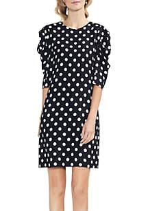 Puff Sleeve Spotlight Shift Dress