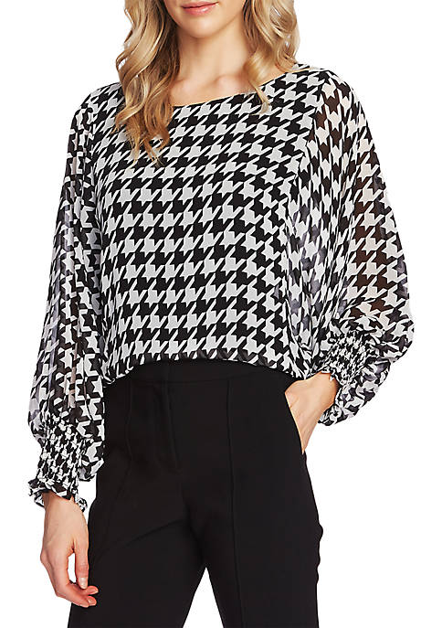 Batwing Houndstooth Top