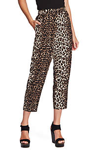 Vince Camuto Leopard Print Pull On Soft Pants