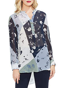 Floral Patchwork Tunic Top