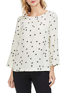 Ditsy Side Snap Top