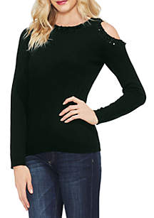 Long Sleeve Cold Shoulder Sweater