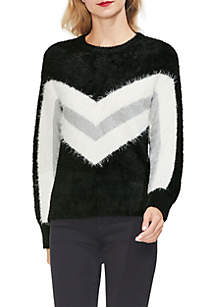 Long Sleeve Chevron Sweater