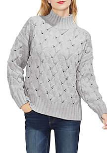 Long Sleeve Texture Stitch Sweater