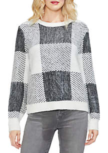 Vince Camuto Long Sleeve Patchwork Sweater