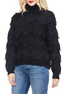 Turtleneck Fringe Sweater