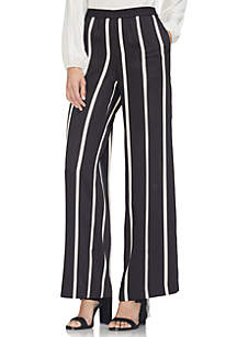 Dramatic Stripe Wide Leg Pull On Pants