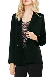 Soft Satin Double Breasted Blazer