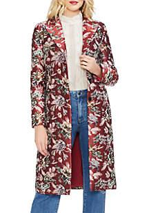Floral Tapestry Topper Coat