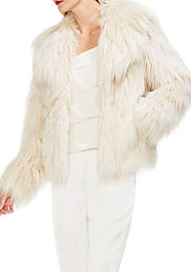 Long Hair Fur Collared Jacket