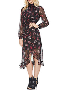 Regal Stamp Floral Maxi Dress