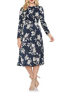 Long Sleeve Floral Bouquet Dress