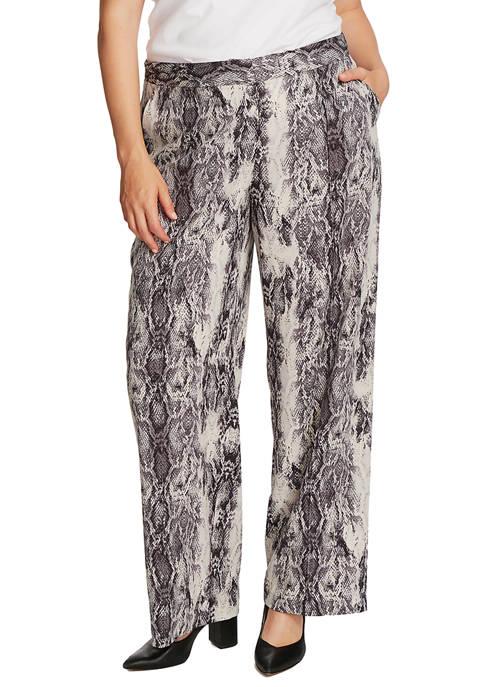 Plus Size Snake Print Pants