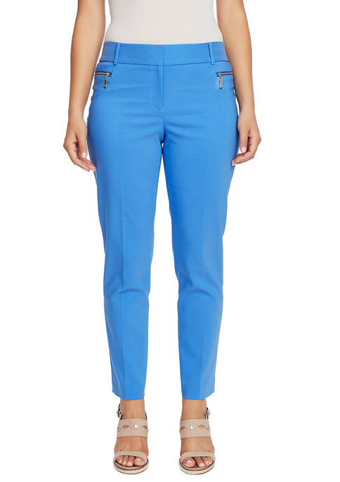CHAUS Womens Dena Zipper Pocket Pants