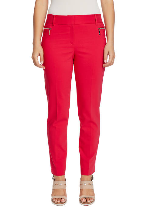 CHAUS Womens Dena Zipper Pocket Pants