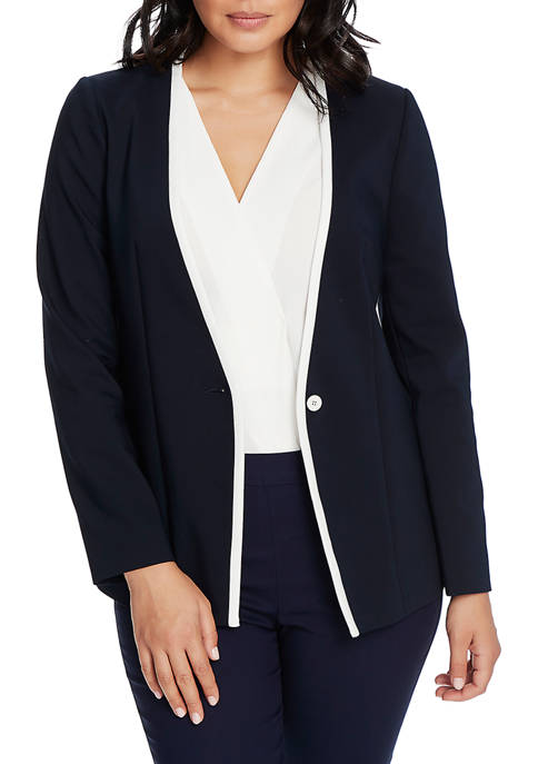 Womens Long Sleeve Trimmed Jacket