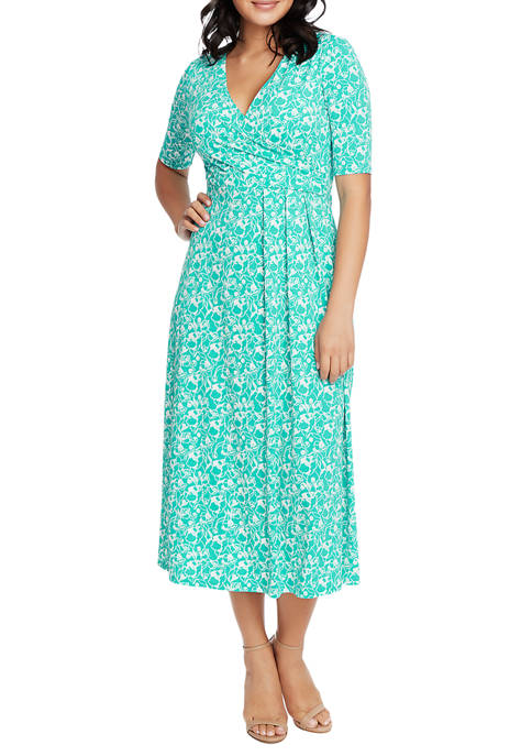 CHAUS Womens Laura Floral Wrap Dress