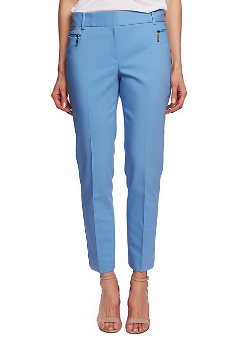 CHAUS Dena Zipper Pocket Ankle Pants