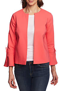CHAUS Bell Sleeve Open Front Jacket