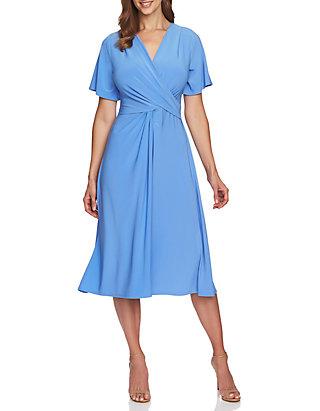 e25c955a509 CHAUS Flutter Sleeve V Neck Dress ...