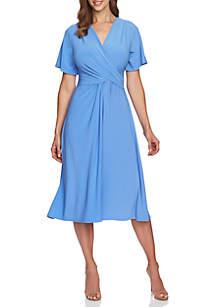 6c9160f570c8 ... CHAUS Flutter Sleeve V Neck Dress