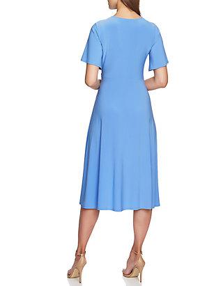 475868f9157 CHAUS Flutter Sleeve V Neck Dress CHAUS Flutter Sleeve V Neck Dress ...