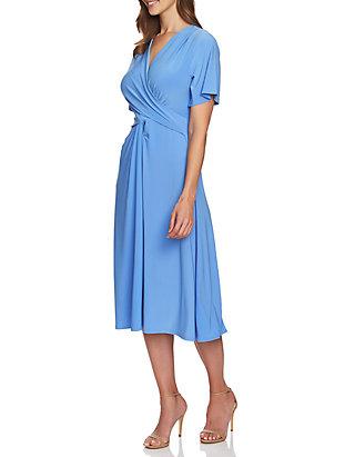 c789610c24c CHAUS Flutter Sleeve V Neck Dress