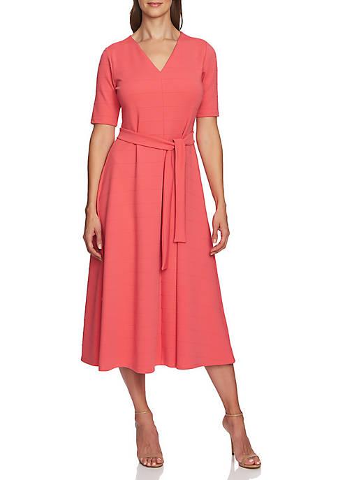 CHAUS Raised Stripe Knit Dress