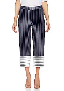 CHAUS Marina Stripe Crop Pants