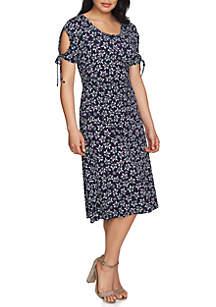 Ruched Cold Shoulder Radiant Spring Dress