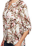 Womens Roll Tab 2 Pocket Canyon Bloom Blouse