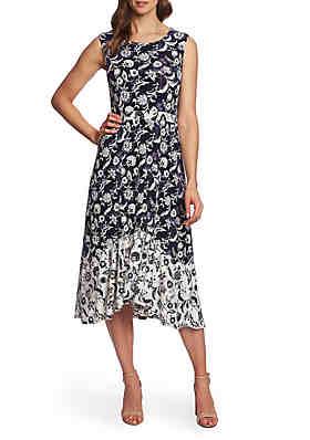 18ab84691a CHAUS Sleeveless Batik Floral Dress ...