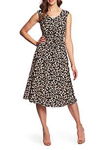 10eb3982ef ... CHAUS Sleeveless Animal Whimsy Dress