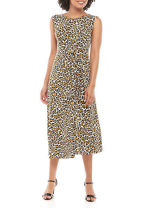 Sleeveless Wild Cat Ruched Dress