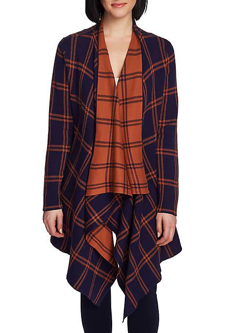 Long Sleeve Plaid Cardigan