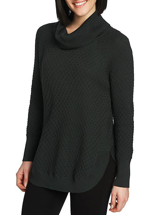 CHAUS Womens Long Sleeve Cowl Neck Sweater
