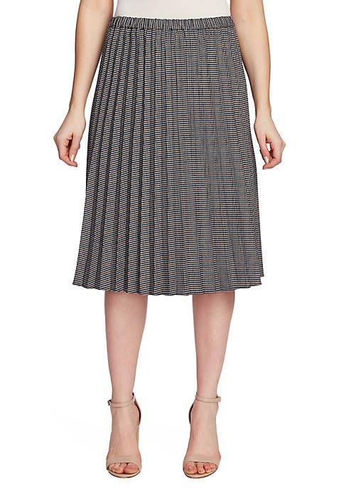Mini Check Pleated Skirt
