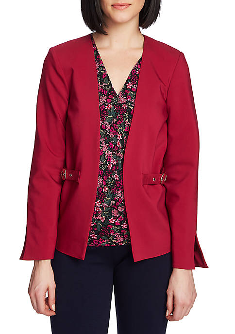 CHAUS Long Sleeve 2 Pocket Jacket with Trim