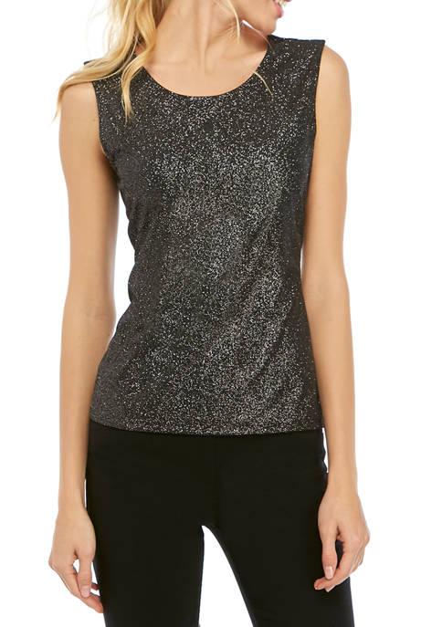 Womens Sleeveless Dot Sparkle Top