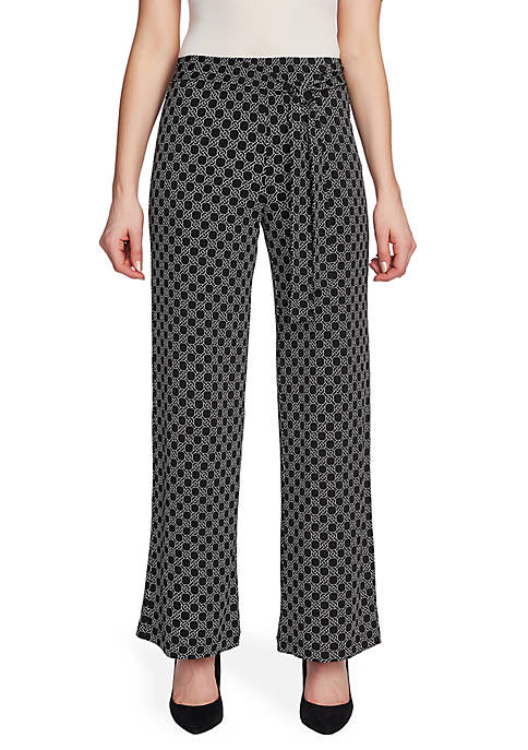 CHAUS Tie Waist Celestial Links Pants