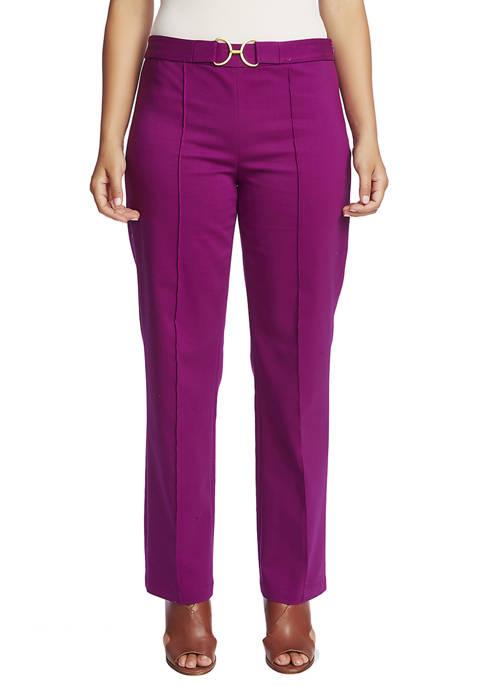 CHAUS Womens Straight Leg Front Seam Pants
